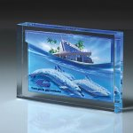 Lucite Infusion Embedded Imprint Achievement Awards