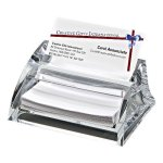 Clearylic Name Card Holder & Pad Paper  Boss Gift Awards