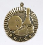 Star Medals -Bowling Bowling Trophy Awards