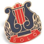 Solo Lapel Pin Music Trophy Awards