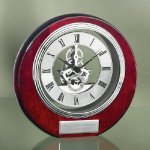 Circle Clock with Exposed Gears in Chrome Sales Awards