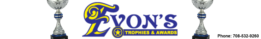 Evon's Trophies & Awards - acrylic awards, crystal awards, cup trophies, perpetual plaques, baseball trophies, football trophies, soccer trophies, corporate plaques, recognition plaques, glass awards, gifts, clocks, corporate awards, tinley park, il, illinois, yvonnes trophy, cheer trophy, swimming trophy, cheerleading award, recognition award, cup trophy, special award, track trophy, running trophy, cross country trophies, softball trophies, trophies, trophy, retirement award, monthly award,
